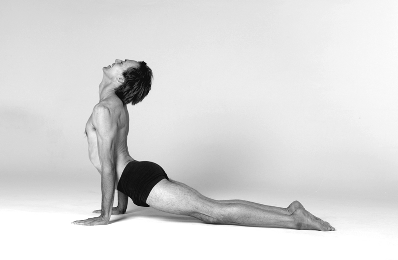 karl straub upward-facing dog pose