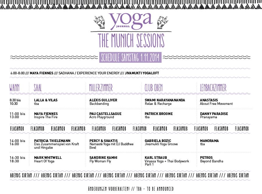 munich sessions Munich: Yoga Journal Conference, Oct 31 Nov 2